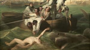 "John Singleton Copley's famous painting ""Watson and the Shark"". National Gallery of Art, Washington, D. C."
