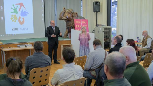 Prague Zoo's director, Miroslav Bobek, opening the meeting of the Commission for Reptiles and Amphibians. Photo: Petr Hamerník, Prague Zoo