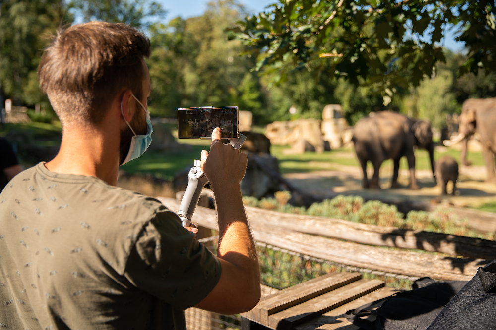 The filming itself was preceded by a thorough tour of the locations at Prague Zoo to choose suitable exhibits and animals. Photo: Samsung Electronics Czech and Slovak