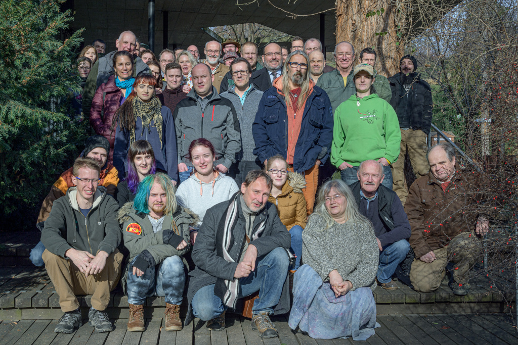 A group photo of the participants at the meeting of the Commission for Reptiles and Amphibians (22 January 2020). Photo: Petr Hamerník, Prague Zoo