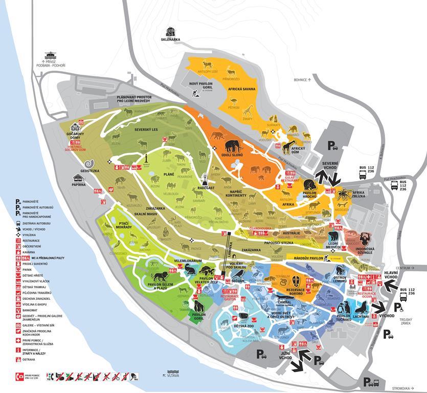 mapa zoo Návštěva mapa zoo